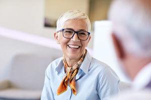 woman enjoying senior living health fitness programs