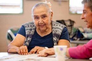 woman enjoying senior living programs in Columbia SC