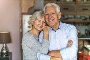 happy couple enjoying senior living programs