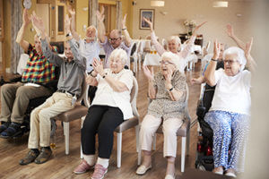 Seniors excited about senior living options at Discovery Village.