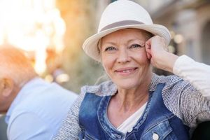 Woman enjoying senior living options at Discovery Village.