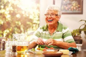 Senior enjoys Sensations Dining at Discovery Village.