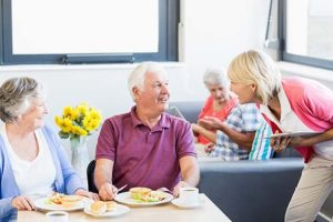 Seniors enjoy amenities at Discovery Village Dominian.