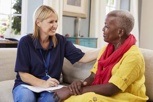 Women discusses senior assisted living in Melbourne,FL.