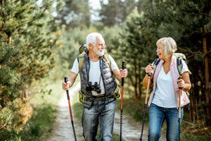senior couple hiking for lewisville texas Senior Living Activities