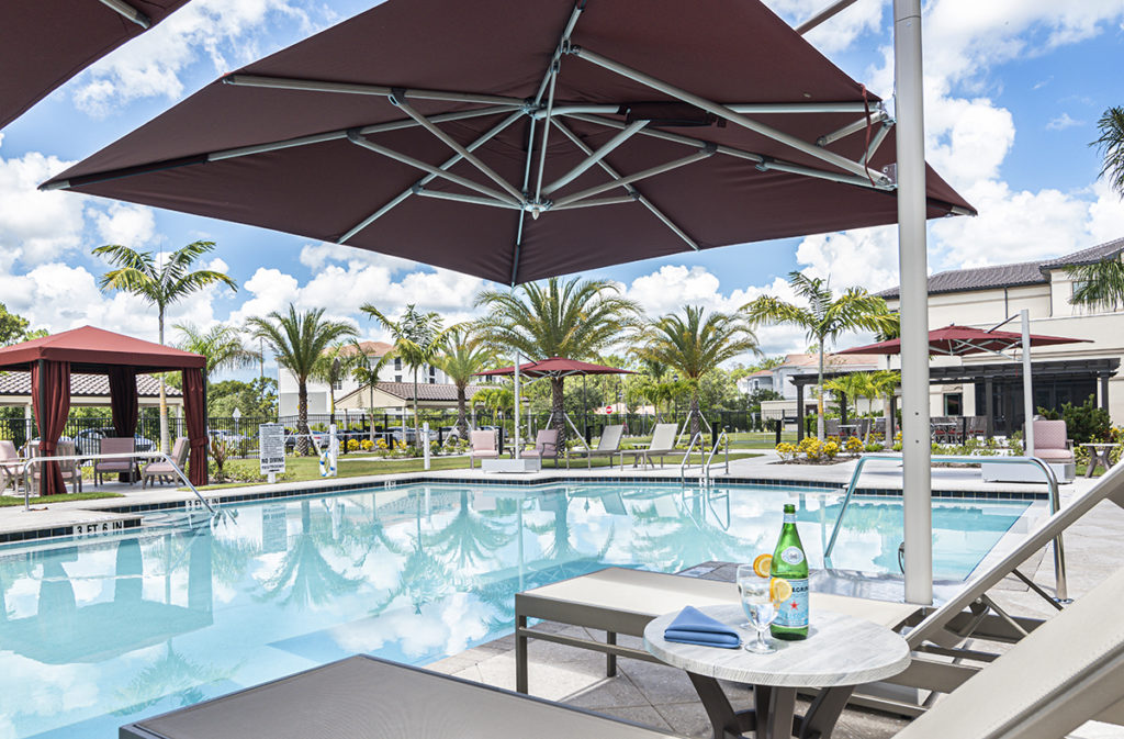 Zero-Entry Pool with Private Cabanas