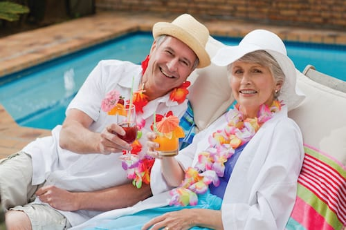 couple with lei